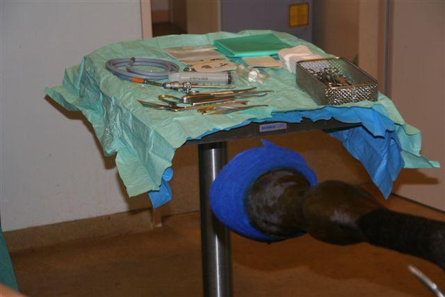 Instrumenten klaar voor operatie