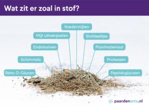 Paardenarts,nl - paardenastma - wat zit er zoal in stof - illustratie van hoopje stof uit de stal